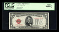 Small Size:Legal Tender Notes, Fr. 1531* $5 1928F Wide I Legal Tender Note. PCGS Gem New 66PPQ.. ...