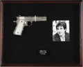 "Movie/TV Memorabilia:Props, Al Pacino Stunt Colt .45 from ""Carlito's Way."" A prop nickel-platedColt .45 automatic with faux mother-of-pearl grips used ... (Total:1 Item)"