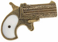 "Movie/TV Memorabilia:Props, ""Maverick"" Prop Derringer. An ornate brass derringer with plastic""mother-of-pearl"" grips used by an unknown performer in t...(Total: 1 Item)"