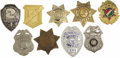 Movie/TV Memorabilia:Props, Costume Badges Group of 9. This assortment of nine costume badges includes six different security guard badges, a patrolman ... (Total: 1 Item)