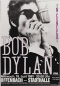 Music Memorabilia:Posters, Bob Dylan Offenbach Germany Concert Poster (1991). This oversizedposter is not particularly old, but it does feature a coo...(Total: 1 Item)