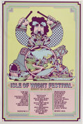 Music Memorabilia:Posters, Isle of Wight Festival Concert Poster (1970). This British musicfestival rivals the original Woodstock for its legendary s...(Total: 1 Item)
