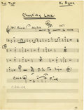 "Music Memorabilia:Memorabilia, Big Bopper ""Chantilly Lace"" Original Music Score. The Big Bopperwas always prepared to entertain. He carried handwritten mu...(Total: 1 Item)"