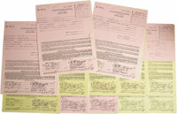 B.B. King Agent-Signed Contracts. Set of 12 booking contracts dating from 1975-76, for performances in Texas, Louisiana...