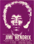 Music Memorabilia:Posters, Jimi Hendrix Will Rogers Coliseum Concert Handbill (1969). Jimi'sFort Worth, Texas gig generated this groovy purple handbi...(Total: 1 Item)