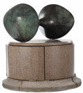 Fine Art - Sculpture, American:Contemporary (1950 to present), Joe Orlando (American, 20th century). . Kiss . 20th century.Bronze, granite. Unmarked. 21 x 25 x 18 inches (53....