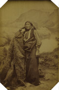 Photography:Cabinet Photos, Photograph Chief White Eagle Sauk Indian ca 1880s....