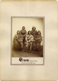 """ERMOKE, KIOWA CHIEF AND FOUR KIOWA WARRIORS""  c. 1872"