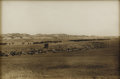 Photography:Cabinet Photos, Collotype Photograph by L. A. Huffman of Cattle Heard in Montana ca 1890s -...