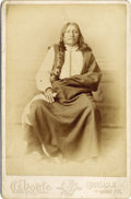 "Photography:Cabinet Photos, SPOTTED TAIL GRAND CHIEF OF DAKOTAS CABINET CARD 1890s. ""Spotted Tail"", was a Brule Lakota tribal chief. A great warrior in ... (Total: 1 Item)"