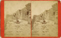 Photography:Stereo Cards, BEAMAN OVERSIZED STEREOCARD OF HOPI/MOQUI PUEBLO, ca 1875. Following Beaman's successful stint as photographer to the 1871 U... (Total: 1 Item)