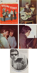 Music Memorabilia:Autographs and Signed Items, Rolling Stones Autographed Fan Magazine (1964)....