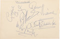 Music Memorabilia:Autographs and Signed Items, Original Moody Blues Autographs and Elkie Brooks Autograph (c. 1965)....