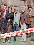 Music Memorabilia:Autographs and Signed Items, Rolling Stones Autographed Tour Program (Harry M. Miller, 1966)....