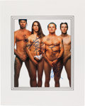 Music Memorabilia:Autographs and Signed Items, Red Hot Chili Peppers Signed Promo Photo (EMI, 1988)....