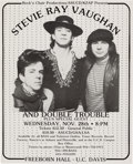 Music Memorabilia:Posters, Stevie Ray Vaughan and Double Trouble Freeborn Hall Concert Poster(Rock 'n Chair Productions, 1984)....