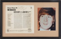Music Memorabilia:Autographs and Signed Items, Beatles John Lennon Please Please Me Autographed Album Display (EMI, 1963)....