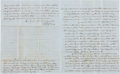Autographs:Statesmen, Charles F. Mercer Partial Autograph Letter Twice Signed...