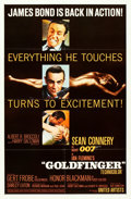 "Movie Posters:James Bond, Goldfinger (United Artists, 1964). One Sheet (27"" X 41"") Glossy Style.. ..."