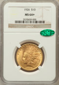Indian Eagles, 1926 $10 MS64+ NGC. CAC. NGC Census: (4090/736). PCGS Population(3152/367). Mintage: 1,014,000. Numismedia Wsl. Price for ...