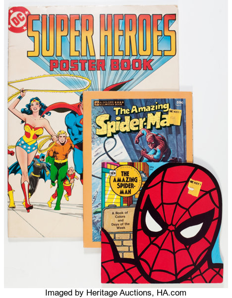 Comic Book-Related Children\'s Books and Coloring Books | Lot #12468 ...