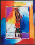 Basketball Collectibles:Others, Michael Jordan Signed Peter Max Lithograph with Remarque. ...