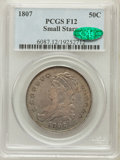 Bust Half Dollars: , 1807 50C Capped Bust, Small Stars Fine 12 PCGS. CAC. PCGSPopulation (7/81). Numismedia Wsl. Price for ...