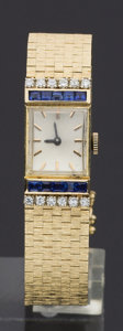 Timepieces:Wristwatch, Swiss 14k Gold & Diamond Wristwatch. ...