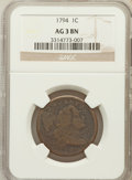 Large Cents: , 1794 1C Head of 1795 AG3 NGC. NGC Census: (0/437). PCGS Population(12/461). Mintage: 918,521. ...