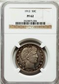 Proof Barber Half Dollars: , 1912 50C PR62 NGC. NGC Census: (22/131). PCGS Population (38/156).Mintage: 700. Numismedia Wsl. Price for problem free NGC...