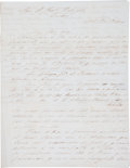 Autographs:Non-American, [Mexican War]. Benito G. Lamadrid Autograph Letter Signed....