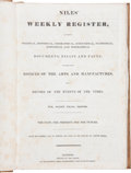 Miscellaneous:Ephemera, Wm. Ogden Niles [editor]. Niles' Weekly Register, FromSeptember, 1836, To March, 1837 - Vol. LI or, Volume XV. - Fifth...