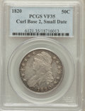 Bust Half Dollars: , 1820 50C Curl Base 2, Small Date VF35 PCGS. PCGS Population(12/153). NGC Census: (12/1598). Mintage: 751,122. Numismedia W...