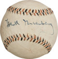 Autographs:Baseballs, Circa 1950 Hank Greenberg Single Signed Baseball....