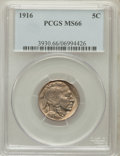 Buffalo Nickels: , 1916 5C MS66 PCGS. PCGS Population (166/14). NGC Census: (77/12).Mintage: 63,498,064. Numismedia Wsl. Price for problem fr...