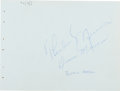 Autographs:Others, 1976 Thurman Munson & Wife Signed Album Page....