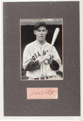 Autographs:Others, 1940's Mel Ott Signed Cut Signature Display....
