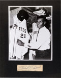 Baseball Collectibles:Others, Circa 1960 Roberto Clemente Signed Display. ...