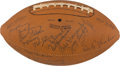 Football Collectibles:Balls, 1950 Chicago Cardinals Team Signed Football - With Mint Curly Lambeau Signature!...
