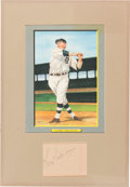 Baseball Collectibles:Others, Circa 1940 Harry Heilmann Signed Cut Display. ...