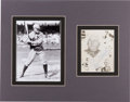 Baseball Collectibles:Photos, Circa 1950 Rogers Hornsby Signed Photo Display. ...