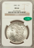 Morgan Dollars: , 1883 $1 MS66 NGC. CAC. NGC Census: (799/125). PCGS Population(825/85). Mintage: 12,291,039. Numismedia Wsl. Price for prob...