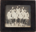 Hockey Collectibles:Photos, 1909 Hobey Bakers Princeton Hockey Team Original Photograph....
