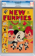 Golden Age (1938-1955):Funny Animal, New Funnies #71 File Copy (Dell, 1943) CGC NM- 9.2 Off-white towhite pages....