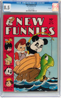 Golden Age (1938-1955):Funny Animal, New Funnies #77 File Copy (Dell, 1943) CGC VF+ 8.5 Off-whitepages....