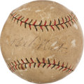 Autographs:Baseballs, Early 1920's Babe Ruth Single Signed Baseball....