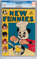 Golden Age (1938-1955):Funny Animal, New Funnies #79 File Copy (Dell, 1943) CGC VF- 7.5 Cream tooff-white pages....