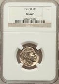 Buffalo Nickels: , 1937-D 5C MS67 NGC. NGC Census: (86/2). PCGS Population (84/1).Mintage: 17,826,000. Numismedia Wsl. Price for problem free...
