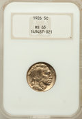 Buffalo Nickels: , 1926 5C MS65 NGC. NGC Census: (508/172). PCGS Population (936/399).Mintage: 44,693,000. Numismedia Wsl. Price for problem ...