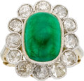 Estate Jewelry:Rings, Antique Emerald, Diamond, Platinum, Gold Ring. ...